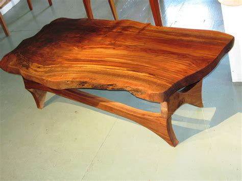 Hand Made Natural Edge Black Walnut Coffee Table By