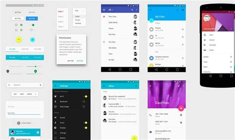 material design layout for android free material design gui templates icon sets