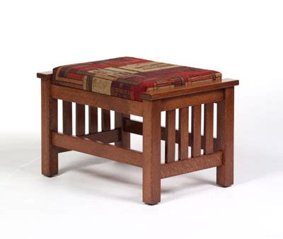mission style ottoman footstool amish peddler custom handcrafted amish furniture
