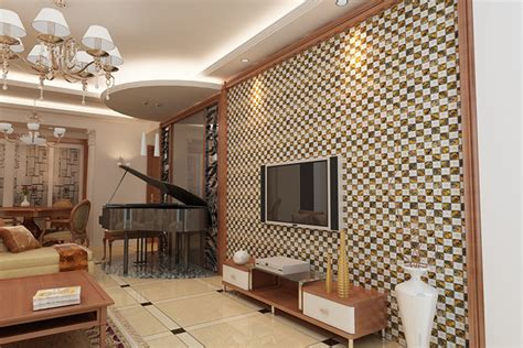 living room wall tiles luxury living room design wall with mosaic ceramic tile