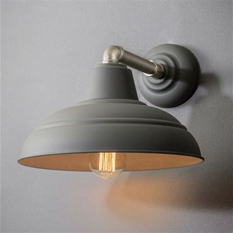 Kitchen Wall Lights Uk Industrial Traditional Large Metal Wall Light In Charcoal