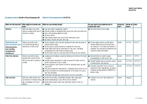 risk assessor appointment letter template sle risk assessment roadhaulage