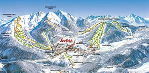 Ski panorama map seefeld