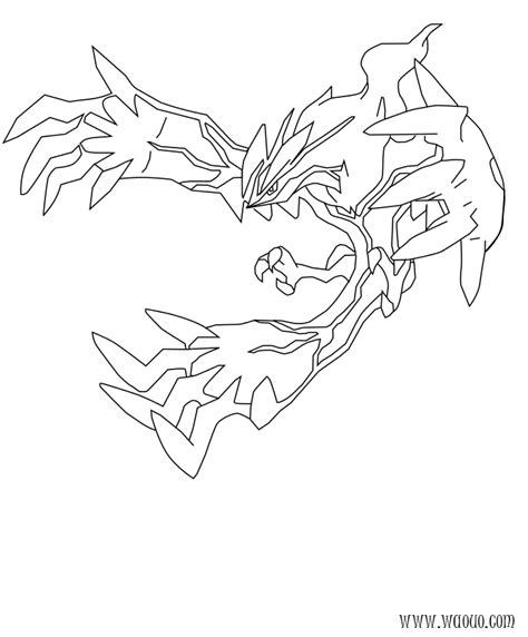 free coloring pages of yveltal pokemon coloriage yveltal