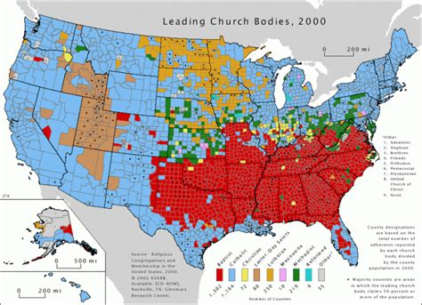 religion by state graphs separation of church and state