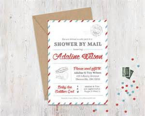 shower by mail invitation mail themed by jocelyncocaindesigns