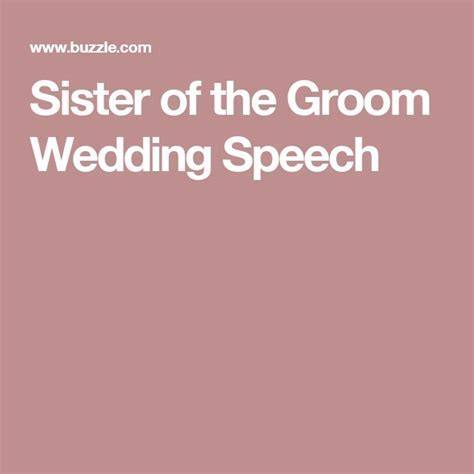 Sister Wedding Speeches   Best Wedding Organizer