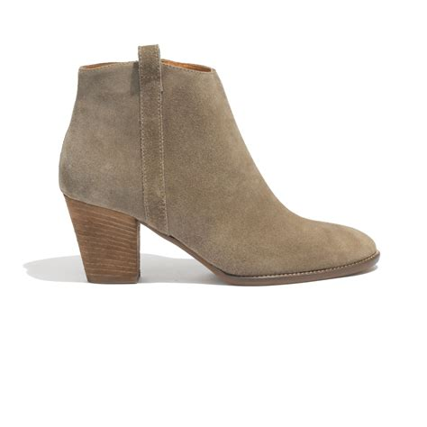 madewell billie boot madewell the billie boot in suede in brown marsh lyst