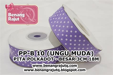 Pp Ribbon Pita aksesoris pita pp b 10 ungu muda benangrajutq