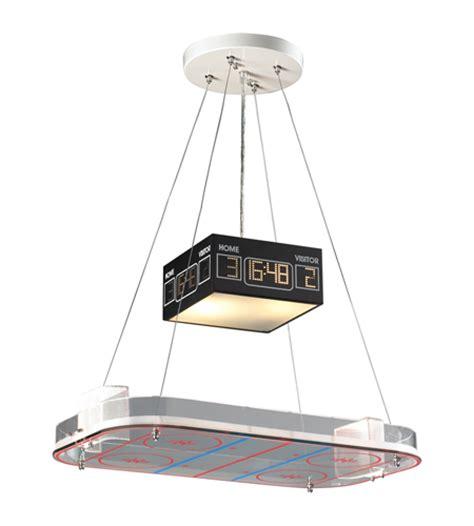 Hockey Ceiling Fan by Hockey Rink Pendant Light