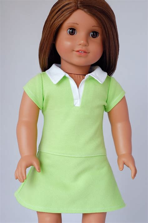 Shirt Pattern For American Girl Doll | american girl doll clothes pattern polo shirt dress