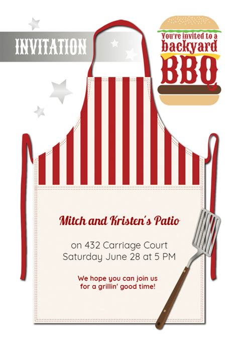 grillin good time bbq party invitation template