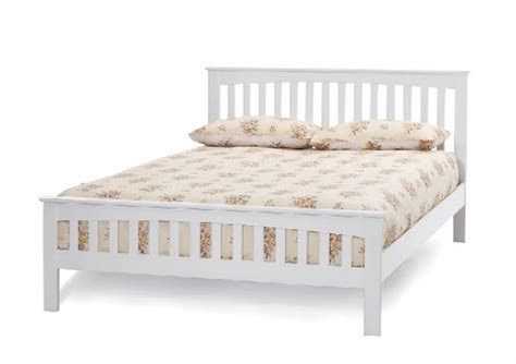 white wooden bed frame serene amelia 5ft kingsize white wooden bed frame by