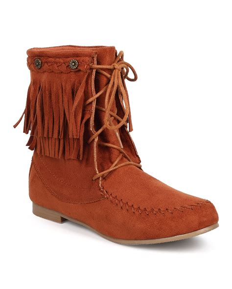 new starcy 86 suede fringe lace up flat