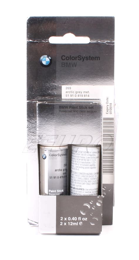 51910419814 genuine bmw mini touch up paint code 269 arctic gray free shipping available