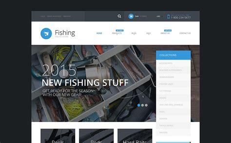 shopify themes supply fishing supplies shopify theme