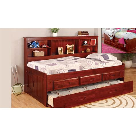 twin size bed size discovery world furniture merlot twin size bookcase day bed