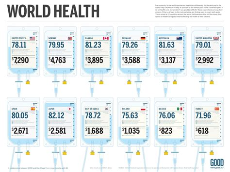 country style health care world health costs infographic health infographics