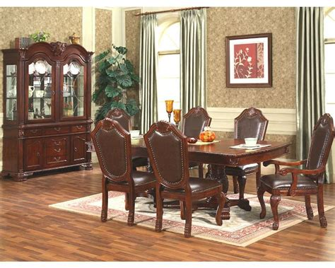 cherry dining room set 7pc formal dining room set in classic cherry mcfd5004