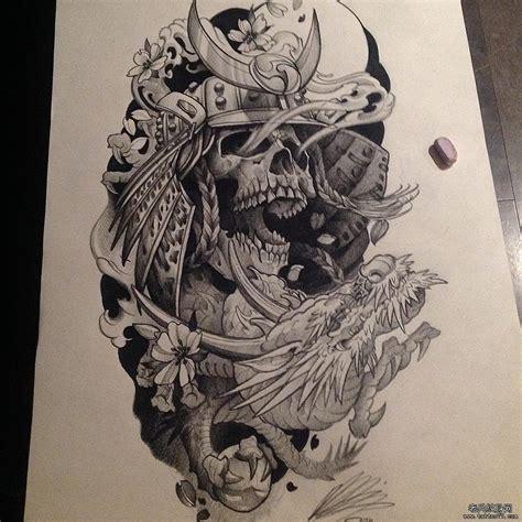 龙纹身手稿图片