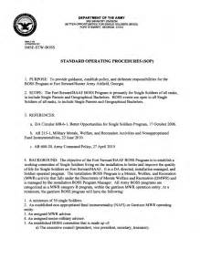 Dod Sop Template by Navy Standard Operating Procedure Template Pictures To Pin