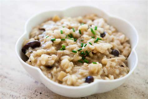 mushroom risotto recipe simplyrecipes com