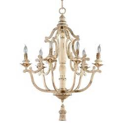 chandelier lighting maison country antique white 6 light chandelier