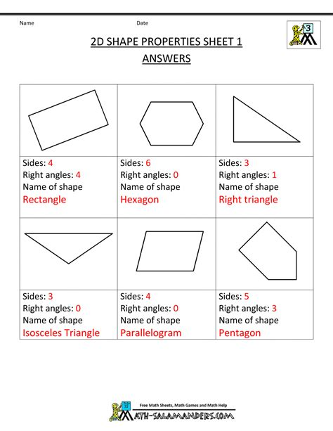 shape pattern worksheets for 3rd grade free printable geometry worksheets 3rd grade