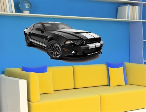 wandtattoo ford mustang gt500 shelby schwarz car