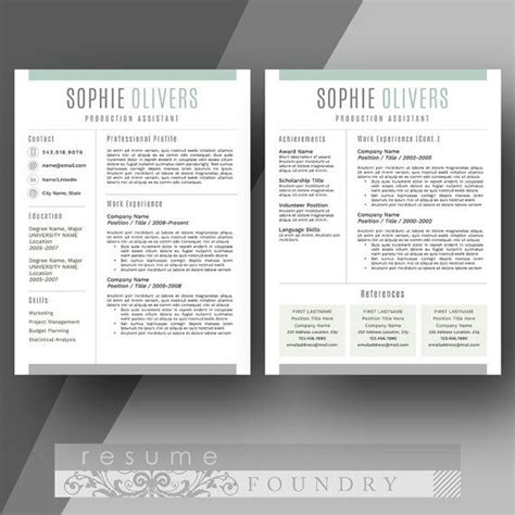 66 best resumes images on resume templates