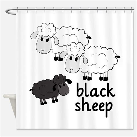 sheep shower curtain black sheep shower curtains black sheep fabric shower