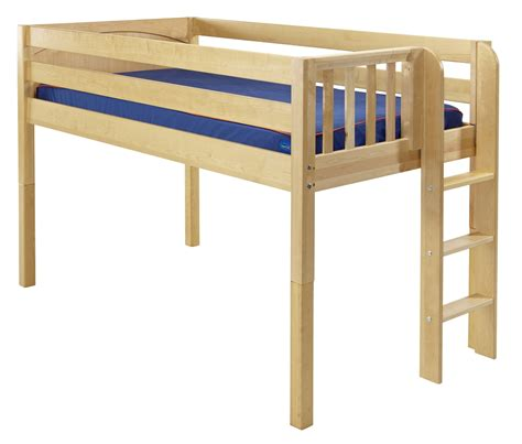 low loft twin bed maxtrix low loft bed w straight ladder on end twin size