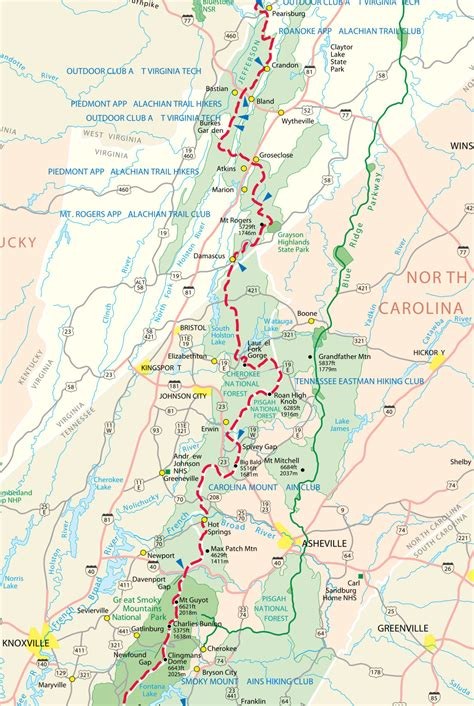 the appalachian trail map popular 183 list appalachian trail map