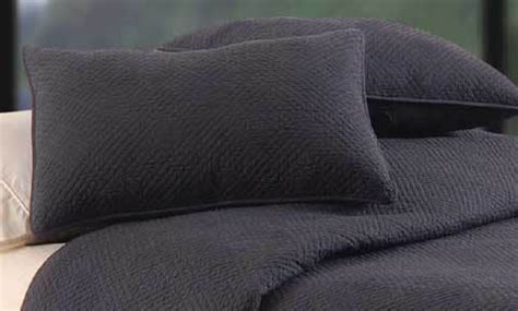 Hampton Black Quilted Matelasse Quilt & Bedding by C&F