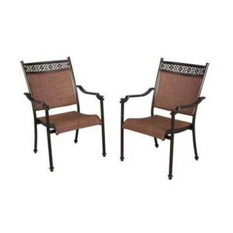 Patio Dining Chairs Sling Pallet Hton Bay Niles Park Sling Patio Dining Chairs