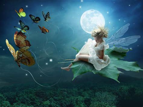 Light Fairies Moon Light Wallpapers Moon Light Stock Photos