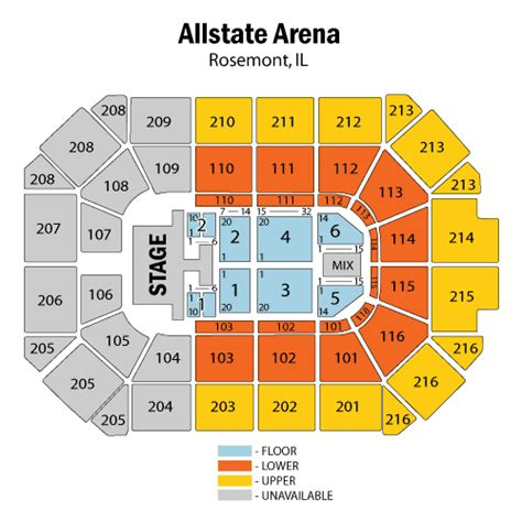 allstate arena floor plan allstate arena seating chart brew home