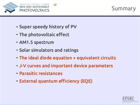 ideal diode equation 翻譯 fundamentals of photovoltaics lecture 1