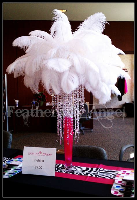 crystal feather centerpieces feathers by angel s blog