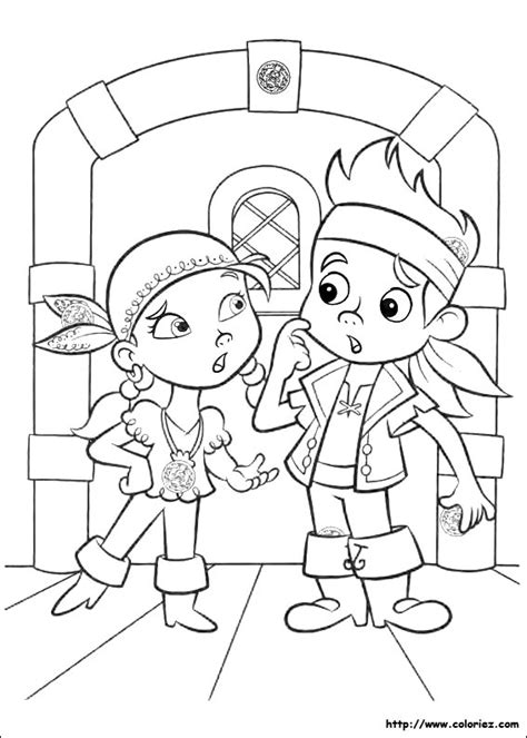 free coloring pages of izzy y jake