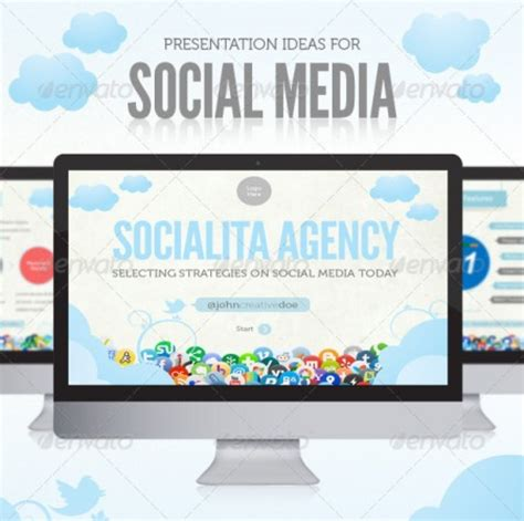 Free Social Media Template Powerpoint Templates Free Social Media Jdap