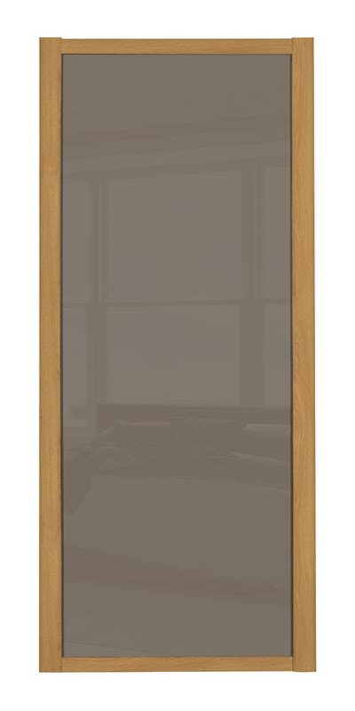Glass Panel Door Picture Frame Shaker Single Panel Door With Oak Frame And Cappuccino
