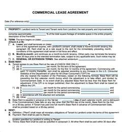 commercial lease agreement 7 free download for pdf