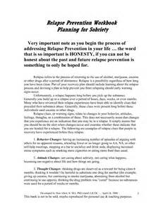 relapse prevention plan template 18 best images of addiction relapse prevention plan