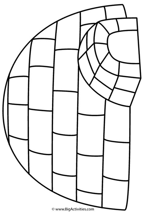 Igloo Coloring Page Winter Preschool Printable Activities Template