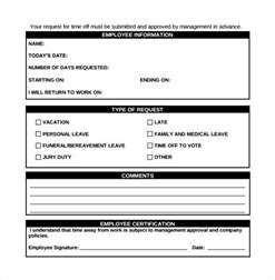 employee vacation request form template sle vacation calendar 2016 leave record 2017 leave