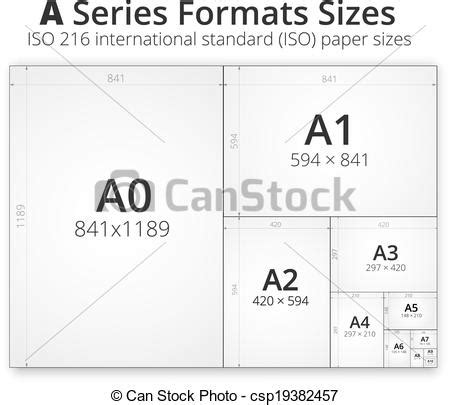 eps format size clipart vector of size of format a paper sheets