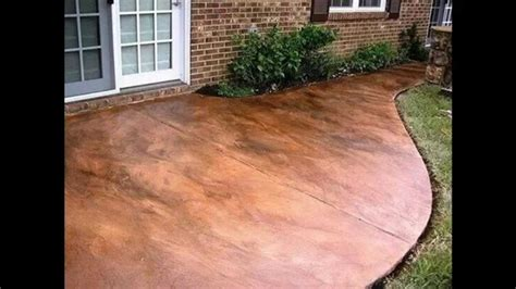 stained concrete patio ideas home design