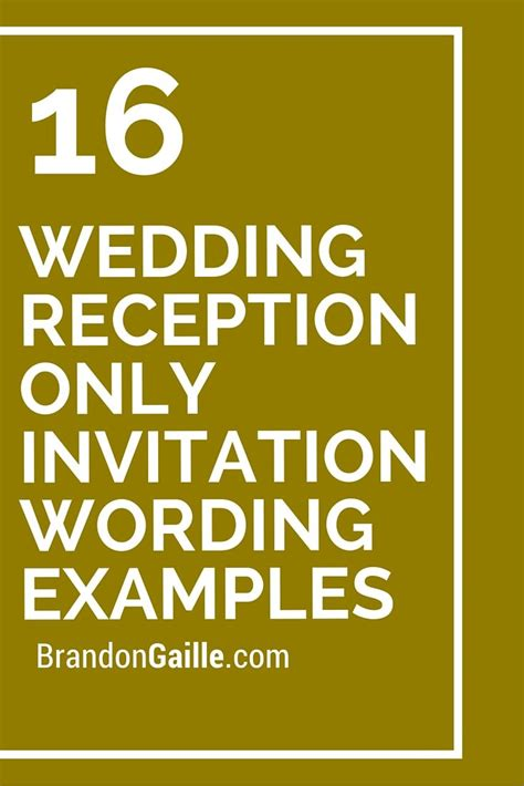 16 wedding reception only invitation wording exles reception weddings and wedding