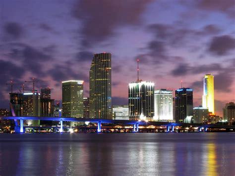 miami city skyline at night world most popular places miami beach florida skylines